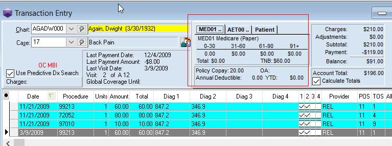 Medisoft Transaction Entry