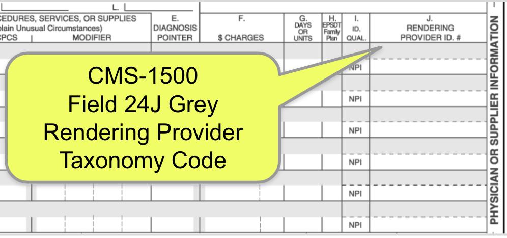 Medisoft Taxonomy Codes