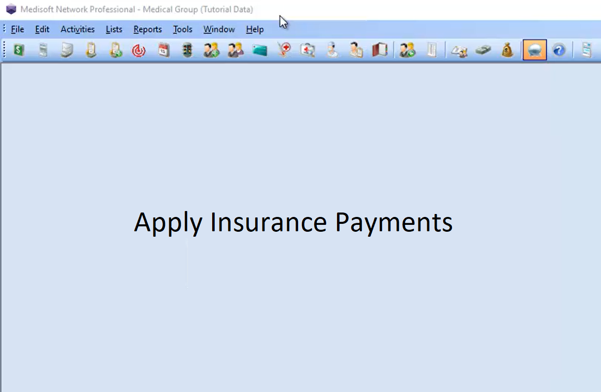 Insurance Payments in Medisoft